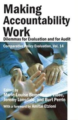 Making accountability work : dilemmas for evaluation and for audit / edited by Marie-Louise Bemelmans-Videc, Jeremy Lonsdale and Burt Perrin ; with a foreword by Amitai Etzioni.