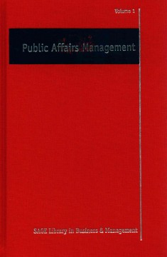 Public affairs management / edited by Phil Harris.