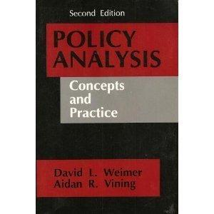 Policy Analysis : Concepts and Practice / David L.Weimer, Aidan R. Vining.
